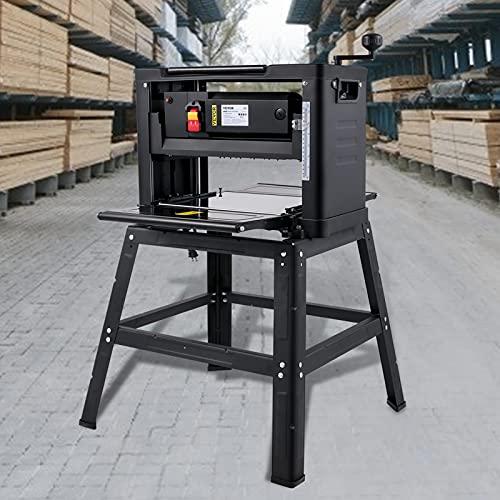 VEVOR Regruesadora Cepilladora de Madera Eléctrica 305 mm 6m/min Portátil de Carpintería de Madera 2000 W 230 V 50Hz 10A Máquinas de Cepillador de Prensa con Soporte Plegable para Madera