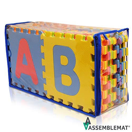 Alfabeto suave Alfombrilla de juego - Alfombrilla de bloqueo para niñ
