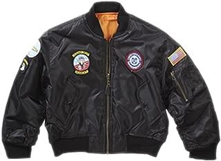 Boys' Ma-1 Flight Jacket Army Clothing Us Airforce Bomber Pilot