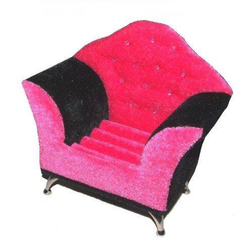 Fauteuil Bijoux en rose noir