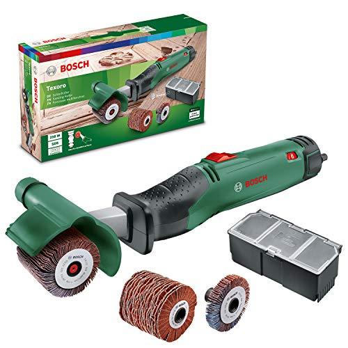 Bosch Texoro Levigatrice a rullo abrasivo (250 W, 3 accessori, scatola accessori, in confezione di cartone)
