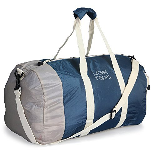 331900fc8 travel inspira Foldable Duffel Travel Duffle Bag Collapsible Packable  Lightweight Sport Gym Bag