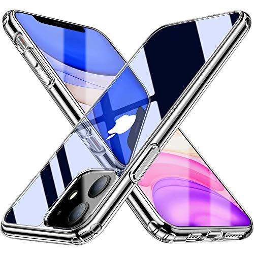 Blukar Funda para iPhone 11, Carcasa Caso Transparente Silicona Anti-Arañazos Absorción de Choque con Esquinas Reforzadas para iPhone 11