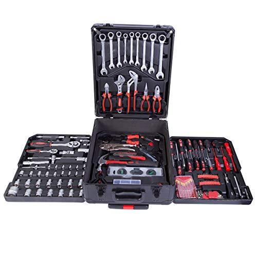 Powerline Werkzeugkoffer 399 teilig Werkzeug gefüllt | Werkzeugkasten | Werkzeugkiste |...