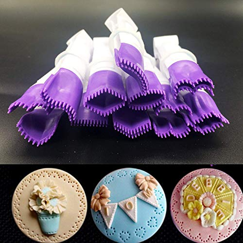 Pinzas de encaje, pinzas de plástico apto para uso alimentario, molde para galletas y tartas, herramienta de decoración para cupcakes