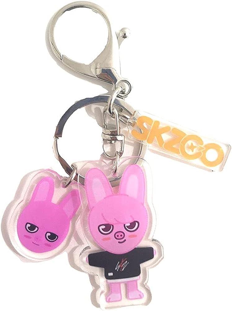 Luoyou KPOP Stray Kids SKZOO Cartoon Character Acrylic Key Chain Keyring