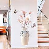 Creative Salon Couloir Simulation Vase Fleur Stickers Muraux/Auto-Adhésif Fleur Décoratif Stickers Muraux/Salon Escalier Autocollants Muraux, 70 * 110 Cm