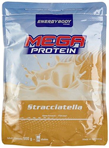 Energybody Mega Protein, Stracciatella, 1er Pack (1 x 500 g Beutel)