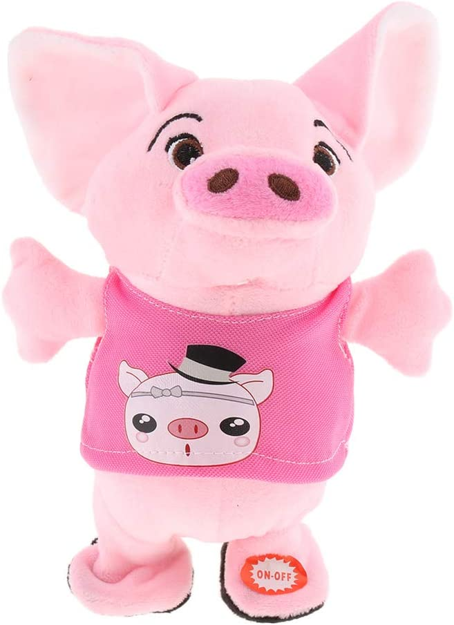 Singing Piglet Pig Walking Tucson Mall with In Talking Electronic Baby security Vocal