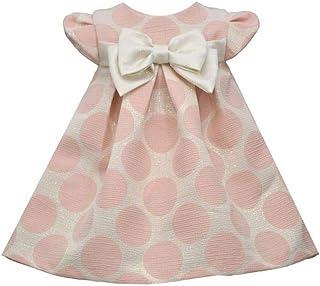 Baby Dress Brocade Dot Bow Dress