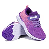 Zapatillas de Deporte para Niñas Zapatillas de Correr Zapatos para Caminar al Aire Libre(YF64-Púrpura 28EU)