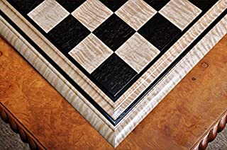 "The House of Staunton Signature Contemporary II Chess Board - Curly Maple/African Palisander - 2.5"" Squares"