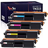 XINSIN Compatible Toner Cartridges Replacement for Brother TN315 TN310 TN-315 TN-310 TN336 use with HL-l8350CDW HL-4150CDN MFC-9460CDN HL-l8250CDN HL-4570CDW MFC-l8650CDW MFC-l8850CDW Printer, 4-Pack
