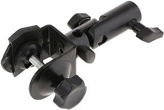 Photo Studio C-Clamp camerahouder van metaal, spargel, aansluiting voor lichthouder, houder voor arm, met DSLR-pen (zwart)