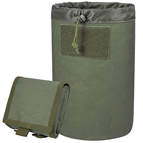 ACETAC Mega Roll Up Pouch Dump Pouch Drawstring Magazine Tactical Utility Pouch, MOLLE System Compatible & Belt Access, Fits Up to 10 30-Round 5.56 PMAGS, and 100+ Mini Shell. (OD Green)