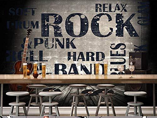 Carta da parati murale europeo e americano industriale vento muro di cemento rock chitarra bar coffee shop tv divano sfondo muro home decor personalizzato di qualsiasi dimensione