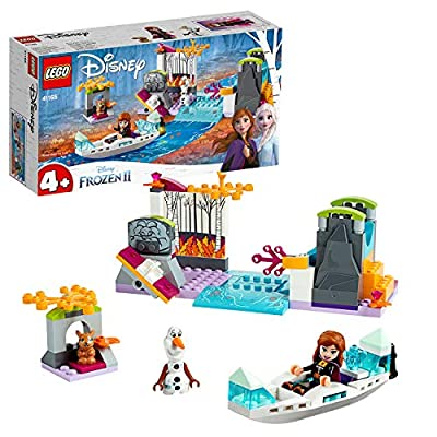 LEGO 41165 Disney Frozen II Anna's Canoe Expedition with Princess Anna and Olaf Mini dolls Plus Bunny Rabbit Figure, Easy Build Preschool Toy for 4-7 Years Old with Bricks Base Plate by LEGO