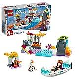 LEGO Disney Princess - Expedición en Canoa de Anna, Incluye Minifigura de Olaf y un Conejito, Piragua de Juguete para...