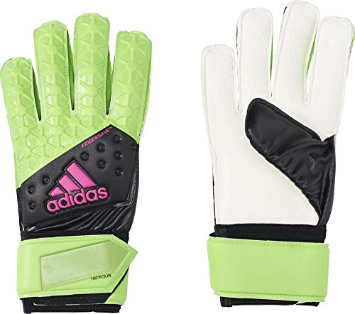 adidas Herren Torwarthandschuhe Ace Fingersave Replique, Solar Green/Core Black/Shock Pink S16/White, 12