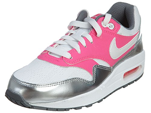 Nike Air Max 1 GS White/Pink/Grey 653653-108 (Size: 7Y)