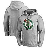 Sudadera con Capucha Boston Celtics Baloncesto Ropa Deportiva Sudadera Suelta para Adolescentes Grey-M