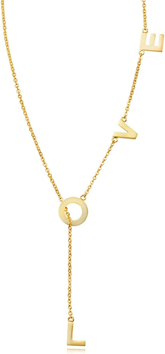 My Very Best Dainty Y Shaped Lariat Necklace