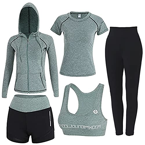 Workout Sets for Women 5 PCS Inmarces Yoga Outfits Activewear Tracksuit Sets