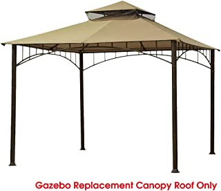 Eurmax 10FT x 10FT Double Tiered Gazebo Replacement Canopy roof Top
