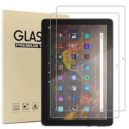 Acadeny(2 Paquete Cristal Templado Protector Pantalla para Fire HD 10/HD 10 Plus (2021)'' Tablet, Dureza 9H, Anti-arañazos, Anti-Aceite, Anti-Burbujas, Borde Redondo 2.5D, Transparente