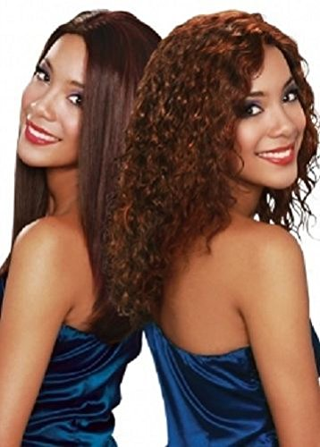 "SWEET CURL (10"", 4 Medium Brown) - Bobbi Boss 100% Indian Remy Human Hair Wet & Wavy Weave Extension"