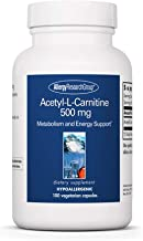 Allergy Research Group - Acetyl L-Carnitine 500mg - Metabolism and Energy Support - 100 Vegetarian Capsules