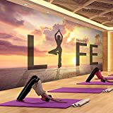CQDSQN 3D pegatinas de pared Papel pintado Gimnasio salud yoga estudio danza figuras PVC Auto-adhesi...