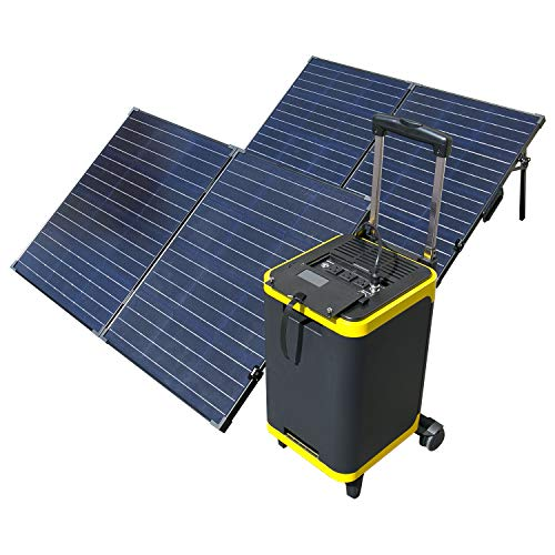 ExpertPower Alpha1900 Portable Power Station Combo| 1886Wh Solar Generator and TWO FREE 100Watt Glass Monocrystalline Solar panel