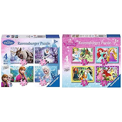 Ravensburger Puzzle Frozen, 12,16,20 E 24 Pezzi, 4 Puzzle In A Box, Per Bambini A Partire Dai 3 Anni & Disney Princess Puzzle Per Bambini, Multicolore, 72 Pezzi, 07397