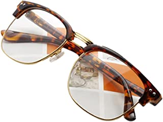 848ea995ee Daxin Unisex Hipster Vintage Retro Classic Half Frame Glasses Clear Lens  Nerd Eyewear