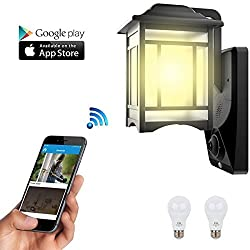 Porch light security camera homscam homscam video security light aloadofball Gallery