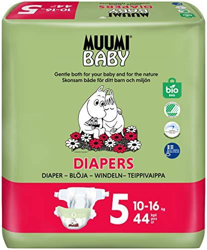 Pañales ecológicos Muumi Baby, talla 5, 10-16 KG, 44 pañales sensibilidad premium