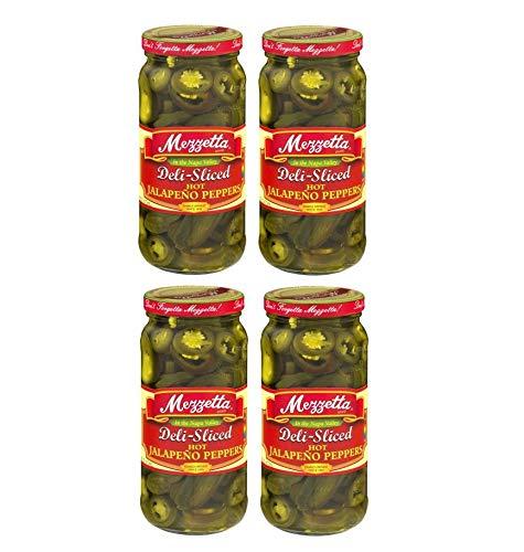 Mezzetta Hot Jalapeno Peppers Deli Sliced 32 fl Oz PK of 2 Kosher Spicy