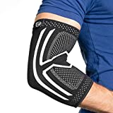 Elbow Compression Sleeve - Support Brace for Tendonitis, Arthritis, Bursitis (Large)
