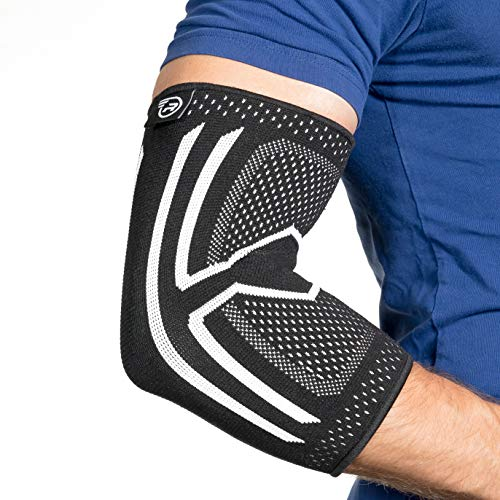 Elbow Compression Sleeve - Support Brace for Tendonitis, Arthritis, Bursitis (XL)