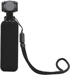 CHshe-Estuche de Silicona Estuche Protector de Silicona Con Cordón Para Dji Osmo Pocket Handheld Gimbal Accesorios de Cámara (Negro)