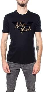 Emporio Armani Luxury Fashion Mens 6G1TF01JPRZ0999 Black T-Shirt | Fall Winter 19