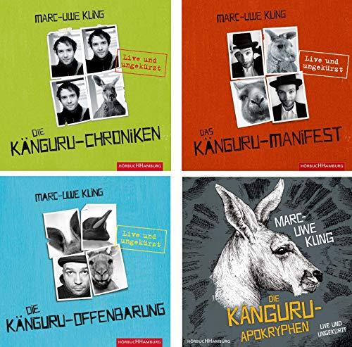 Marc-Uwe Kling - 4 Känguru Hörbücher im Set -Chroniken/Manifest/Offenbarung/Apokryphen im Set - Deutsche Originalware [18 CDs]