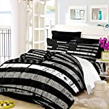 Oliven American Flag Quilt Cover Queen Size Valor Patriot Theme Digital Duvet Cover 3 Piece Bedding Set,Black White Gray