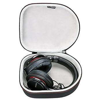 LTGEM Hard Headphone Case Travel Storage Bag for Sony Audio-Technica Xo Vision Behringer Beats Photive Philips Bose Maxell Panasonic and More-Black