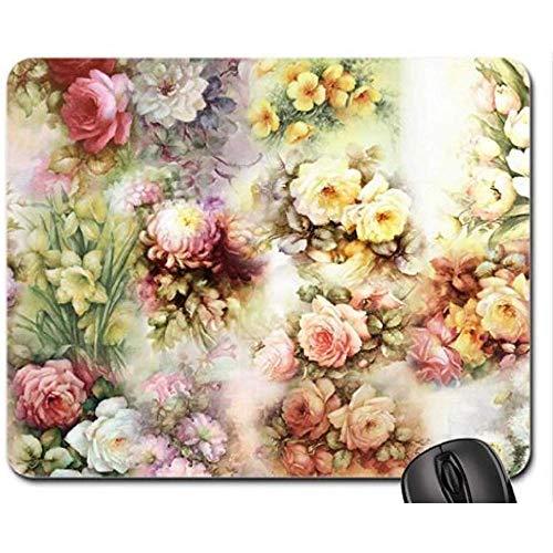 Bloemen Schilderij Collage Muis Pad, Mousepad (Voegt Muis Pad)