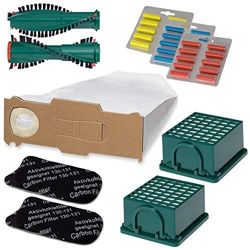 Staubsauger Sparset - 66 tlg. Set - 30 Staubsaugerbeutel - Filterset - Duft passend für Vorwerk Kobold VK 130/131 - Bestleistung beim Saugen - Hochwertige Qualität