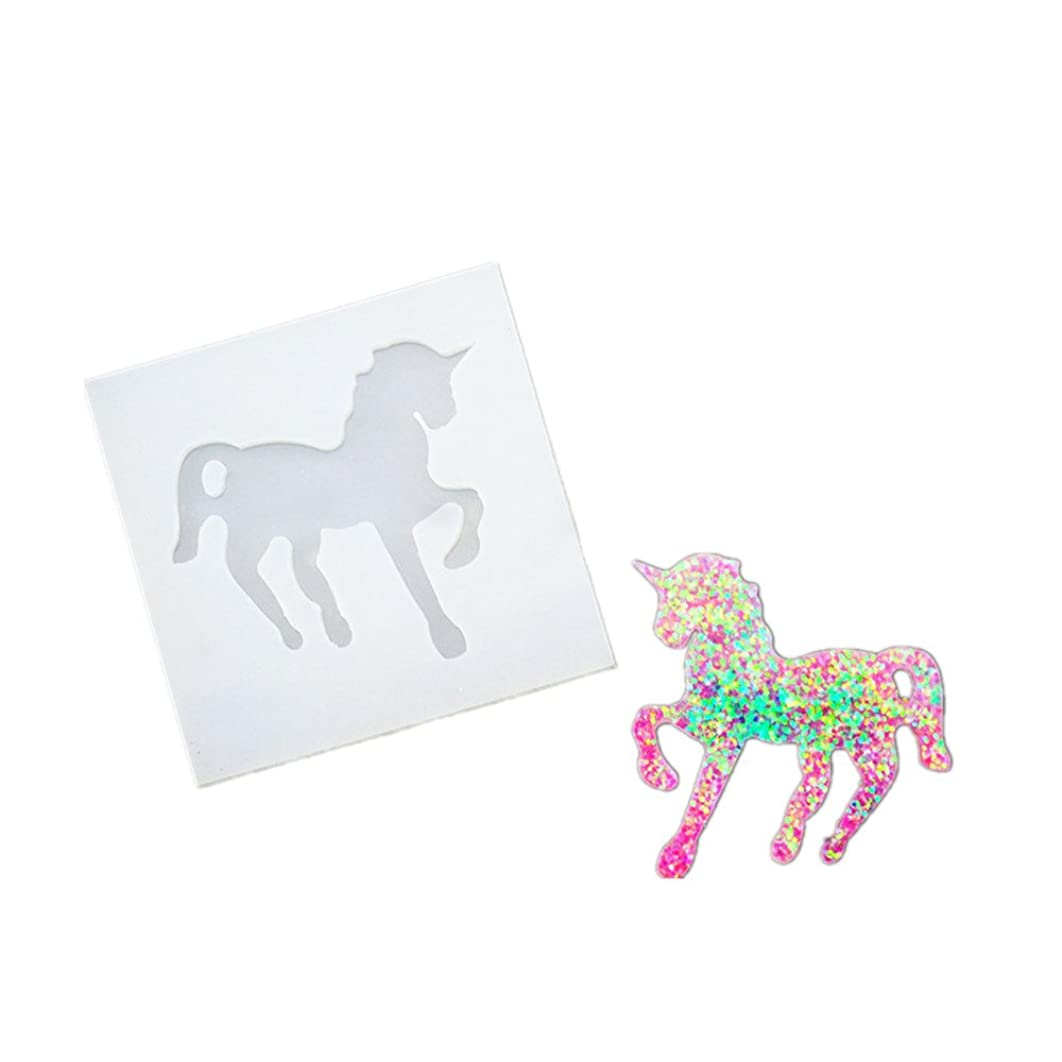DOYOLLA Clear Unicorn Silicone Molds DIY Resin Jewelry Making Necklace Pendant Ring Pendant Casting Mould Craft Tool