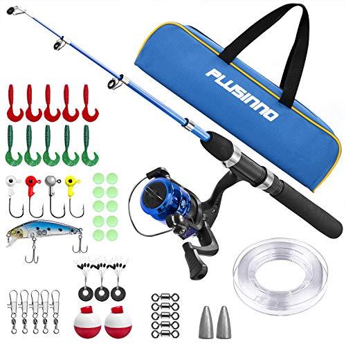 PLUSINNO Kids Telescopic Fishing Rod