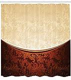 N/ de de Chocolate Motivos victorianos en Bicolor Inspirado en el Barroco Arreglo antiguodiseño Adornado Paño con Beige Marrón 183 * 183CM